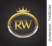 initial letter rw logotype...   Shutterstock .eps vector #714281266