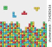 color blocks. video game....   Shutterstock .eps vector #714282616