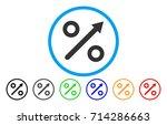 growing percent icon. vector... | Shutterstock .eps vector #714286663