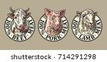 Cows  Pig  Sheep Head. 100...