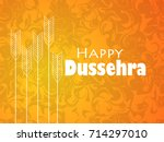 happy dussehra. indian festival ... | Shutterstock .eps vector #714297010