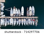 Deatil of pier with boats and yachts in Portisco marina, Sardinia, Italy - stock photo