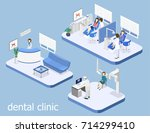 isometric 3d isolated concept... | Shutterstock .eps vector #714299410