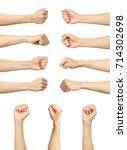 multiple female caucasian... | Shutterstock . vector #714302698