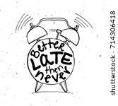 hand draw alarm clock...   Shutterstock .eps vector #714306418