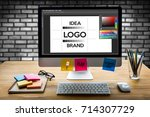design creative creativity work ... | Shutterstock . vector #714307729