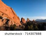 view from garden of the god ... | Shutterstock . vector #714307888