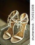 beautiful brown hight heels | Shutterstock . vector #714311008