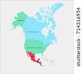 map of north america | Shutterstock .eps vector #714316954