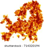 autumn europe map silhouette... | Shutterstock .eps vector #714320194