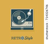 Player For Vinyl Records. Logo  ...