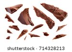 chocolate. chocolate pieces... | Shutterstock . vector #714328213