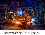 steelmaking shop | Shutterstock . vector #714330160