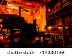 steelmaking shop | Shutterstock . vector #714330166