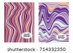 cover layouts collection with... | Shutterstock .eps vector #714332350