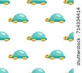 vector seamless pattern on... | Shutterstock .eps vector #714334414