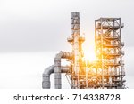 close up industrial zone. plant ... | Shutterstock . vector #714338728