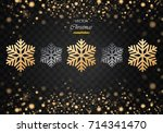 christmas background with... | Shutterstock .eps vector #714341470