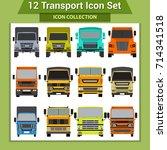 transport icons   Shutterstock .eps vector #714341518