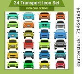 transport icons | Shutterstock .eps vector #714341614