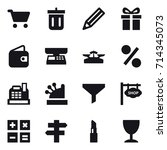 shopping icon set | Shutterstock .eps vector #714345073