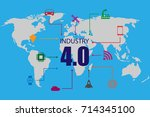 industry 4.0 and internet of... | Shutterstock .eps vector #714345100