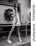 streetstyle  fashion.... | Shutterstock . vector #714346510