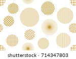 japanese golden print. seamless ... | Shutterstock .eps vector #714347803