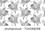 vector seamless pattern with... | Shutterstock .eps vector #714348298