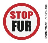 vector icon of a ban on fur...   Shutterstock .eps vector #714348508