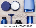 close up of cosmetic products... | Shutterstock . vector #714351889