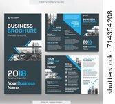 business brochure template in... | Shutterstock .eps vector #714354208