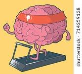 training brain illustration.... | Shutterstock .eps vector #714359128