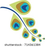 peacock feather abstract vector ...   Shutterstock .eps vector #714361384