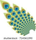 peacock feather abstract vector ...   Shutterstock .eps vector #714361390