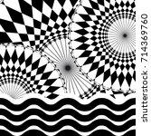 geometric kaleidoscope... | Shutterstock . vector #714369760