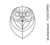 head owl line | Shutterstock .eps vector #714373990