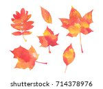 red and yellow watercolor... | Shutterstock . vector #714378976