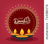 happy diwali wallpaper design... | Shutterstock .eps vector #714380176