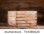 old wooden box on a wooden... | Shutterstock . vector #714380620
