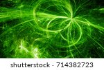 green glowing electromagnetic... | Shutterstock . vector #714382723