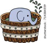 Little Elephant Inside Wooden...