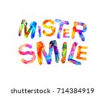 mister smile. vector... | Shutterstock .eps vector #714384919