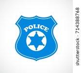 police cockade vector icon... | Shutterstock .eps vector #714388768