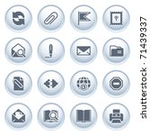 e mail web icons on buttons.   Shutterstock .eps vector #71439337