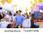 blurred image of people walking ... | Shutterstock . vector #714397498