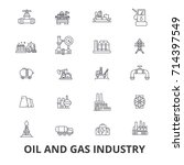 oil and gas industry  rig ... | Shutterstock .eps vector #714397549