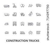 trucks construction  equipment  ... | Shutterstock .eps vector #714397750