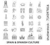 spain  barcelona  madrid ... | Shutterstock .eps vector #714397816