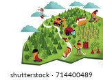 forest industry overview | Shutterstock . vector #714400489